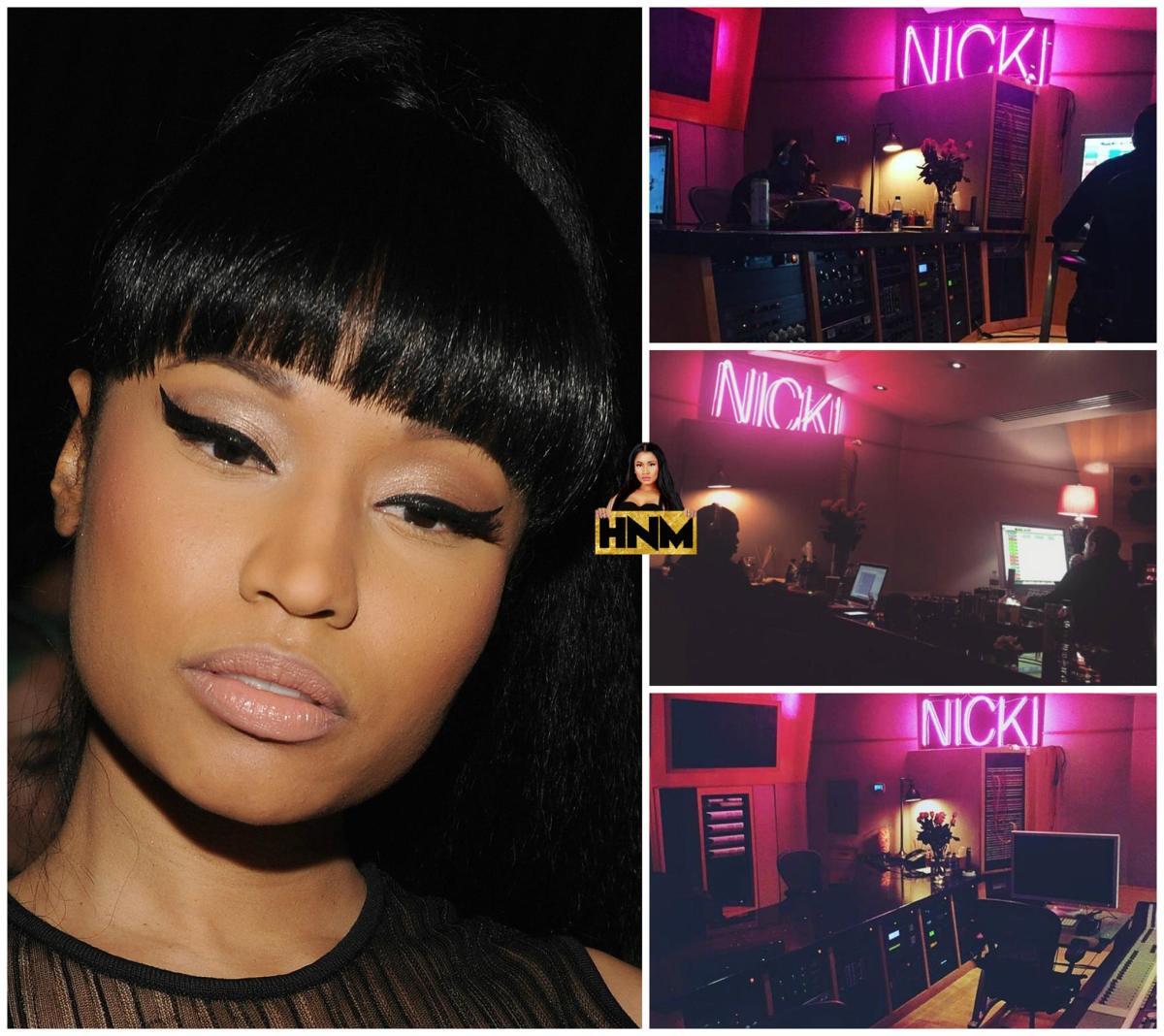 Nicki Minaj était en studio hier!