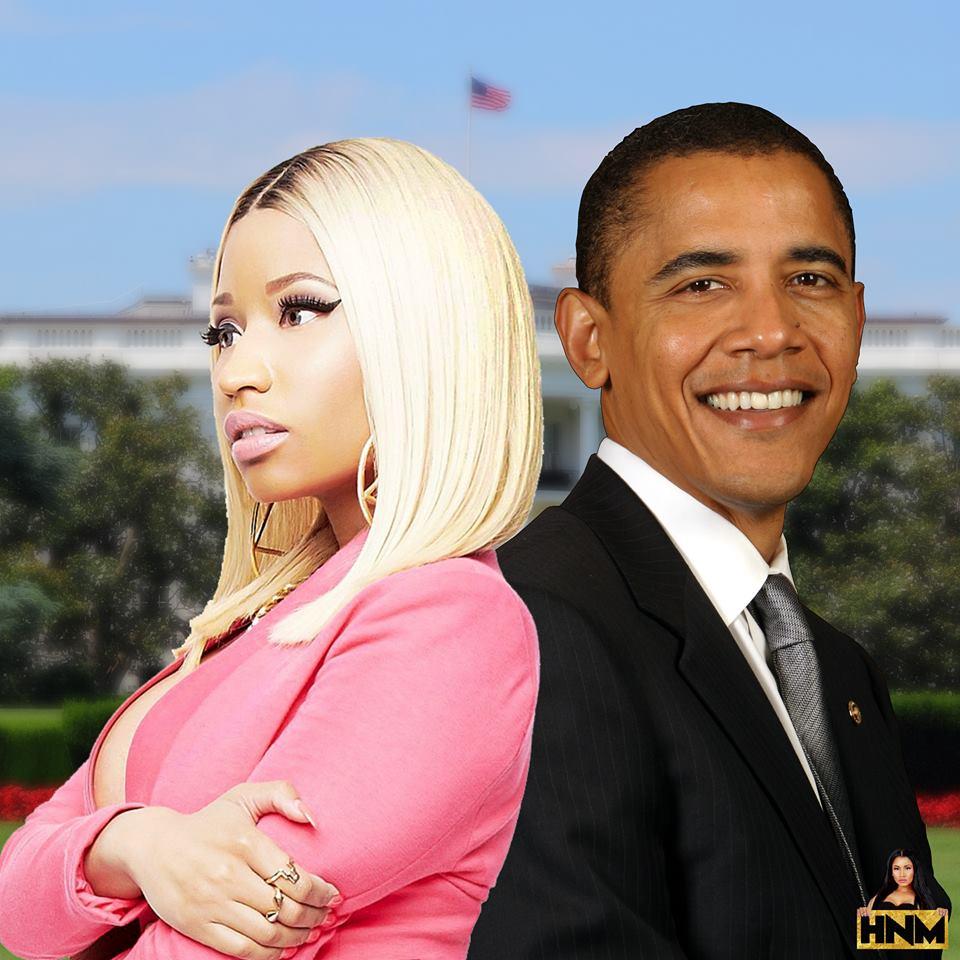Nicki Minaj à la maison blanche!