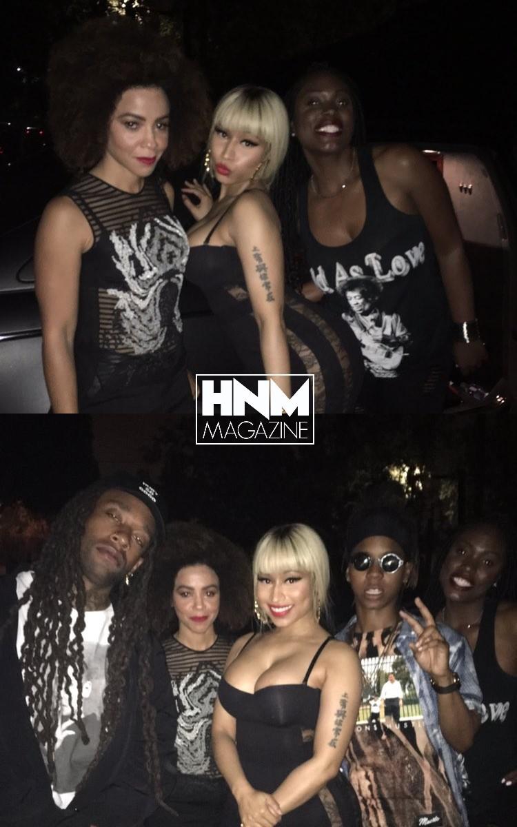 Nicki Minaj en soirée à LosAngeles!