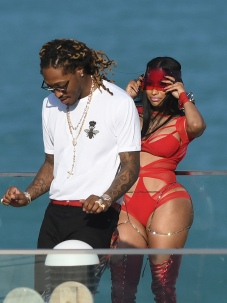 EXCLUSIVE: February 27, 2017: Nicki Minaj shows off her famous curves in a red cutout bodysuit as she films a video with rapper Future in Miami Beach, Florida. -PICTURED: Nicki Minaj, Future -PHOTO by: INSTARimages.com -Instar_Nicki_Minaj_Future_EXC_0730642230 Editorial Rights Managed Image - Please contact www.INSTARimages.com for licensing fee and rights: North America Inquiries: email sales@instarimages.com or call 212.414.0207 - UK Inquiries: email ben@instarimages.com or call + 7715 698 715 - Australia Inquiries: email sarah@instarimages.com.au Êor call +02 9660 0500 Ð for any other Country, please email sales@instarimages.com. ÊImage or video may not be published in any way that is or might be deemed defamatory, libelous, pornographic, or obscene / Please consult our sales department for any clarification or question you may have - http://www.INSTARimages.com reserves the right to pursue unauthorized users of this image or video. If you are in violation of our intellectual property you may be liable for actual damages, loss of income, and profits you derive from the use of this image or video, and where appropriate, the cost of collection and/or statutory damage.
