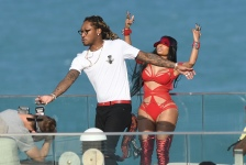 EXCLUSIVE: February 27, 2017: Nicki Minaj shows off her famous curves in a red cutout bodysuit as she films a video with rapper Future in Miami Beach, Florida. -PICTURED: Nicki Minaj, Future -PHOTO by: INSTARimages.com -Instar_Nicki_Minaj_Future_EXC_0730642259 Editorial Rights Managed Image - Please contact www.INSTARimages.com for licensing fee and rights: North America Inquiries: email sales@instarimages.com or call 212.414.0207 - UK Inquiries: email ben@instarimages.com or call + 7715 698 715 - Australia Inquiries: email sarah@instarimages.com.au Êor call +02 9660 0500 Ð for any other Country, please email sales@instarimages.com. ÊImage or video may not be published in any way that is or might be deemed defamatory, libelous, pornographic, or obscene / Please consult our sales department for any clarification or question you may have - http://www.INSTARimages.com reserves the right to pursue unauthorized users of this image or video. If you are in violation of our intellectual property you may be liable for actual damages, loss of income, and profits you derive from the use of this image or video, and where appropriate, the cost of collection and/or statutory damage.