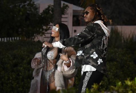 Nicki Minaj Wears A Very Revealing Diamond Studded Bikini As She Films A Video With Future In Miami