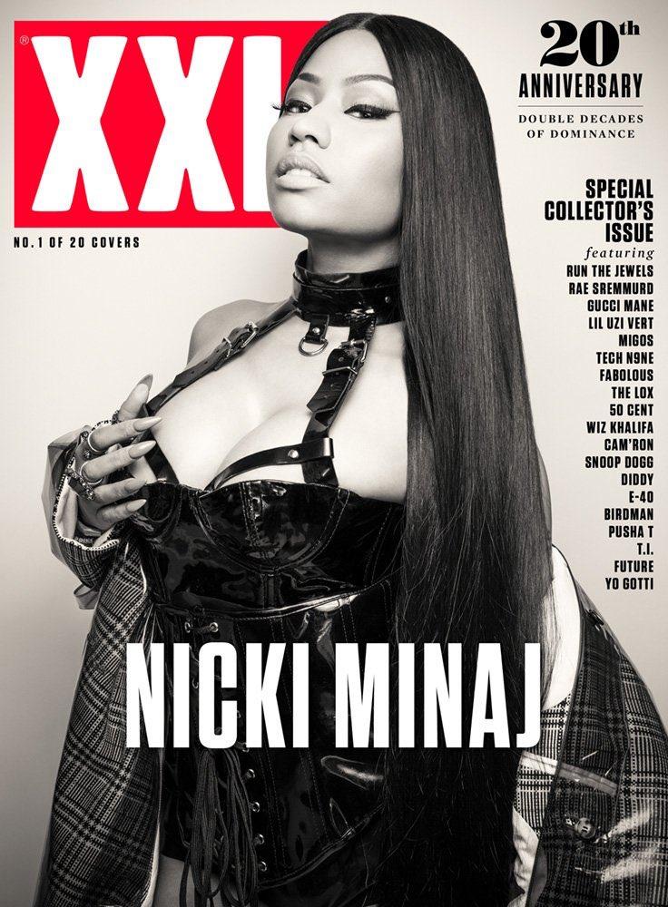 Nicki Minaj gracie la couverture de XXL Magazine pour les 20 ans dumagazine!