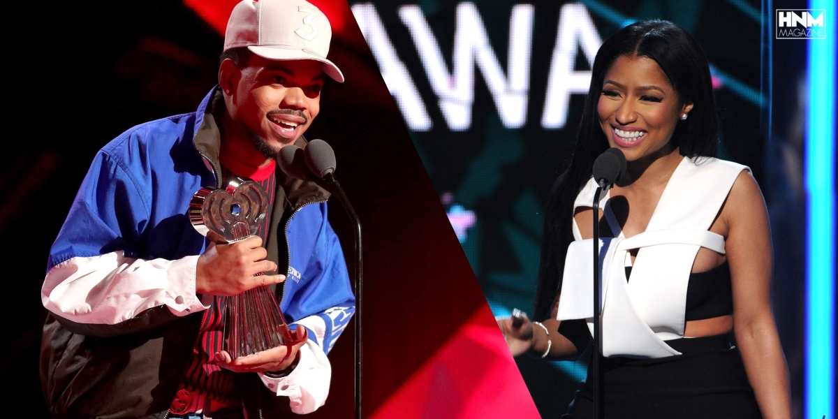 Chance The Rapper remercie Nicki Minaj lors de son discours au iHeart RadioAwards!