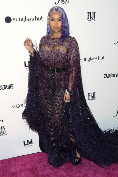 Mandatory Credit: Photo by Patrick Lewis/Starpix/REX/Shutterstock (9871001bb) Nicki Minaj The Daily Front Row's 6th Annual Fashion Media Awards, New York, USA - 06 Sep 2018